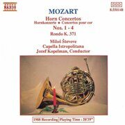 Mozart-Horn Concertos Nos. 1-4/Rondo In E Flat Major  - Capella Istropolitana  /  Cd 1