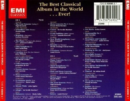The Best Classical Album In The World…Ever ! -  Collection  /  Cd 2 1995- Emi Eec