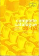 Catalogue - Deutsche Grammophon 2003 - 2004 -  /  Книга 1