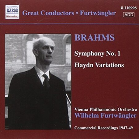 Brahms - Symphony No. 1 / Haydn Variations -  Furtwangler  /  Cd 1  Naxos Germany