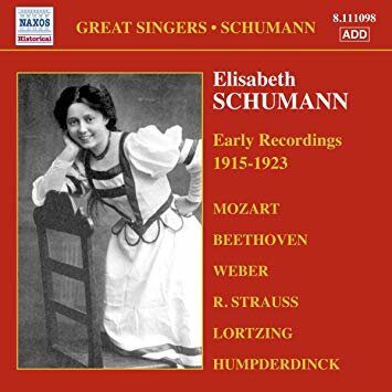 Elisabeth Schumann - Early Recordings (1915-1923)  -   /  Cd 1  Naxos Germany