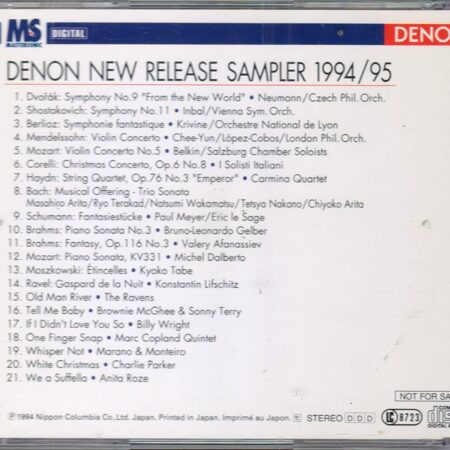 Various Composers&Artists-Denon New Release Sampler 1994/95 -  {Distributor'S Copy}  /  Cd 1 1994 Nippon Columbia Japan Japan
