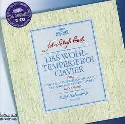 Bach - Well-Tempered-Clavier Book  Ii - Ralph Kirckpatrick, Clavicord  /  Cd 2 1963 Deutsche Grammophon Germany