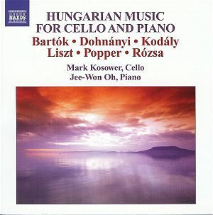Bartok/Dohnanyi/Kodaly/Liszt-Music For Cello And Piano - Mark Kosower  /  Cd 1 (Hungarian Music For Cello And Piano)  Naxos Import
