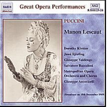 Puccini - Manon Lescaut - Kirsten Bjorling 1949   /  Cd 2  Naxos Germany