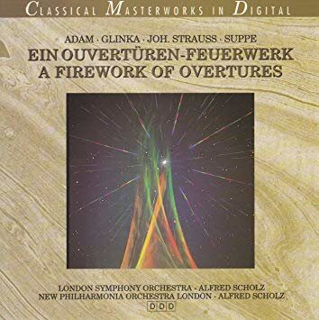 Adam/Glinka/Zuppe/Strauss - Firework Of Ouvertures  /  Cd 1 1994 Selected Чехия